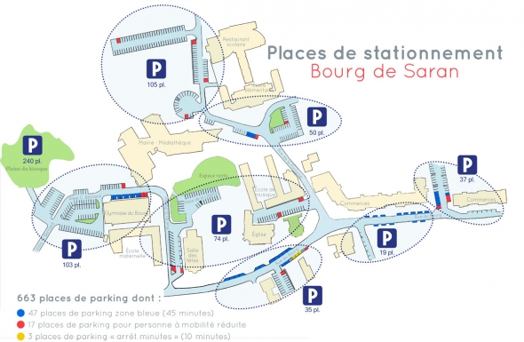 Plan des parkings du Bourg